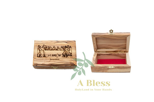 Wooden Jewelry Box engraved on it Last Supper Icon