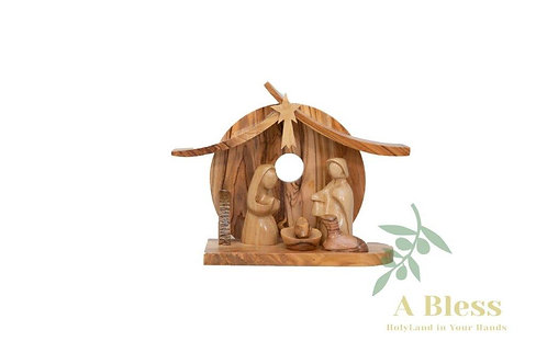 Hand Carved Olive Wood Nativity Scene