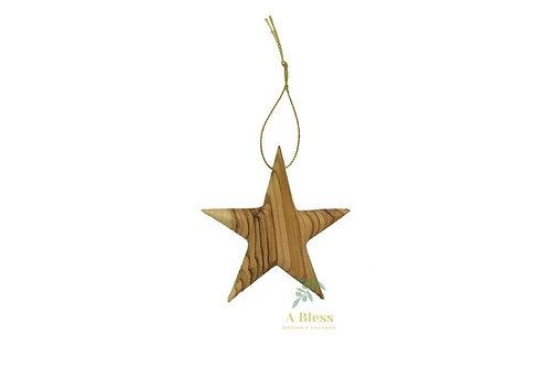 Olive Wood Bethlehem Star Christmas Ornaments