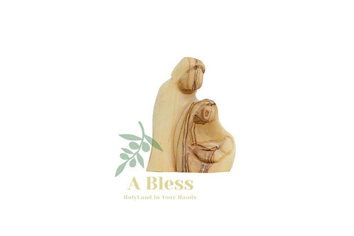 Carved Holy Family Sculpture Faceless