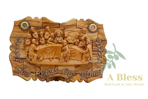 The Last Supper Wooden Stand with Holy Incense