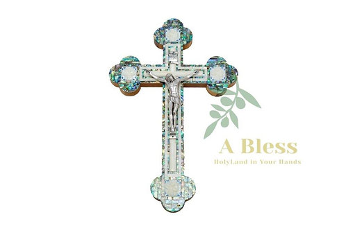 White Handmade Mother of Pearl Cross