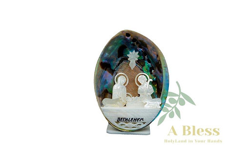 Colorful Abalone Shell Nativity Scene