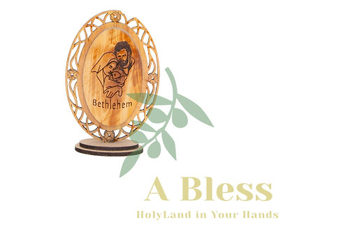 Holy Family Small Wooden Stand