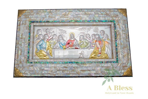 Mother of Pearl Last Supper Wall Hanging