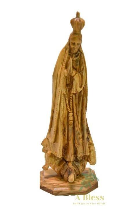 Olive Wood Virgin Mary Fatima
