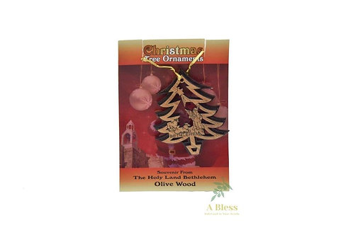 Olive Wood Christmas Tree Ornaments
