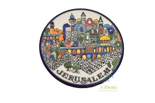 Ceramic Plate - Jerusalem