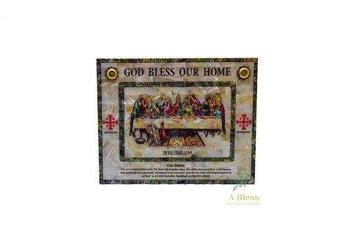 Last Supper on a Mother of Pearl Frame - God Bless Our Home