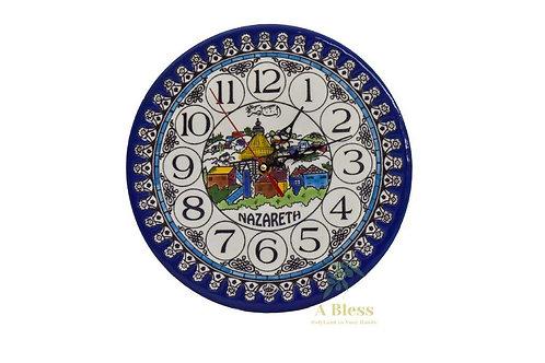 Ceramic Plate Clock - Nazareth
