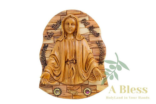 Virgin Mary - Wall Hanging Plaque with Holy Land Incense
