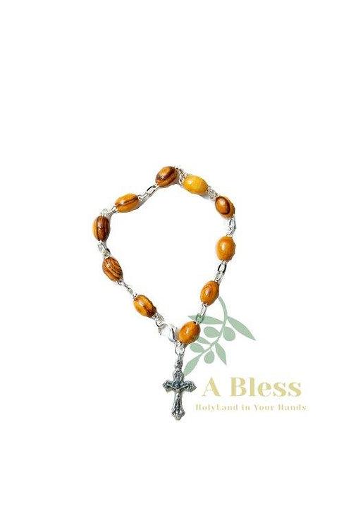Olive Wood Bracelet Rosary