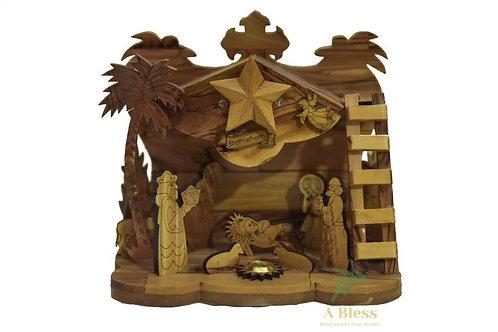 Olive Wood Nativity Set Musical