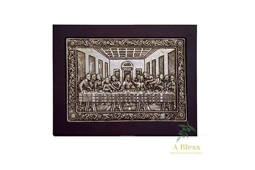 Silver Plated Last Supper in a Frame