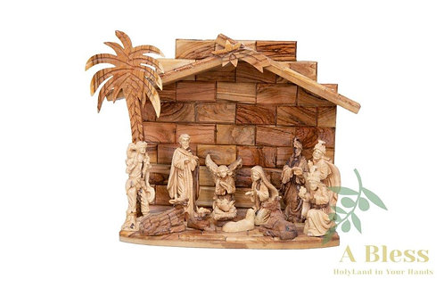 Olive Wood Christmas Nativity Scene
