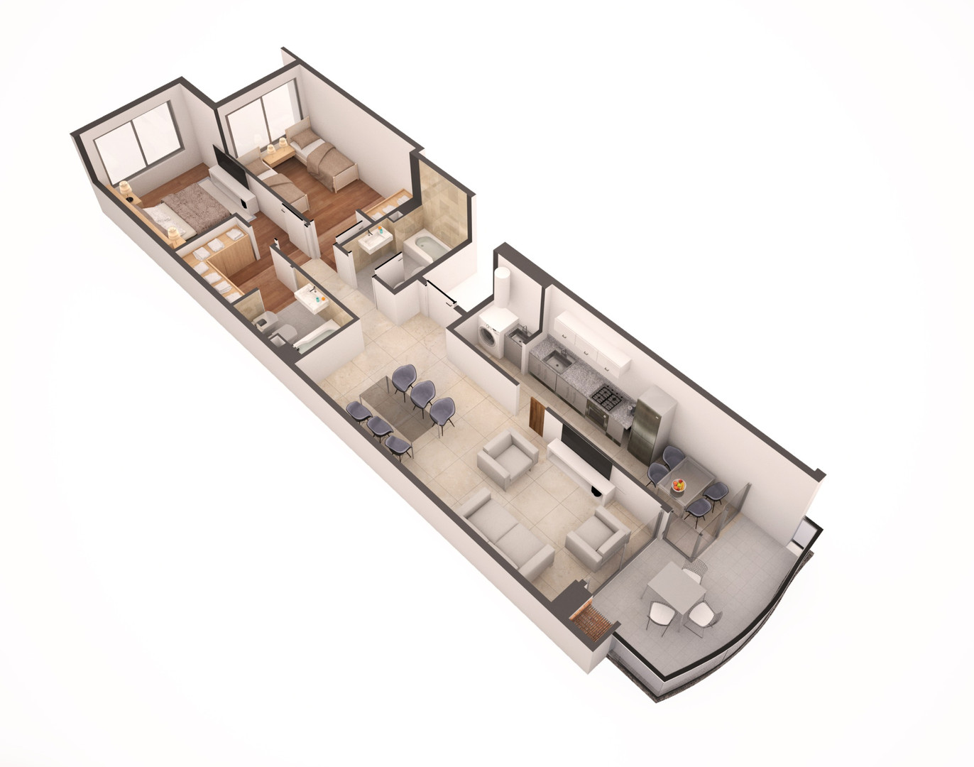 3 ambientes Pavillon Colpayo