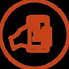 Icon Hand mit Smartphone