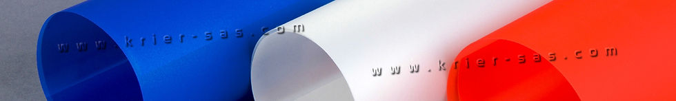 MAT Polyester Bleu Blanc Orange