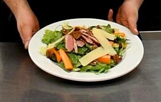 Salade tiède d'hiver au canard