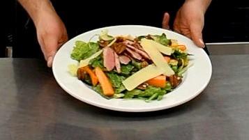 Salade tiède au canard