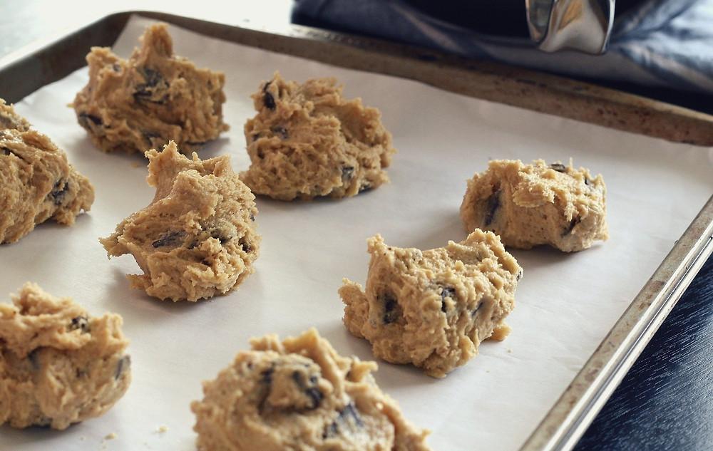 boules de pâte à biscuit