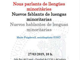 Seminario nuevos parlants de lenguas minoritarias