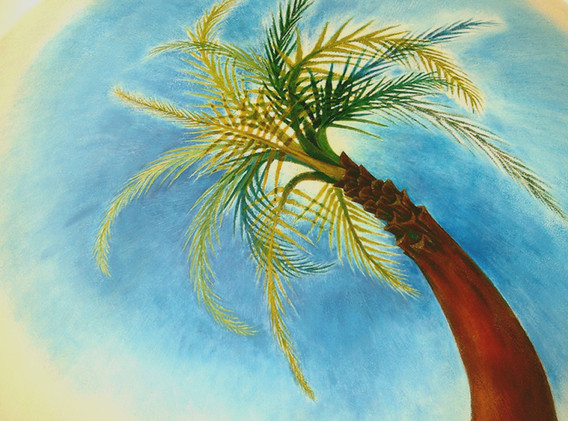 Ceiling Mural, Swaying Palm