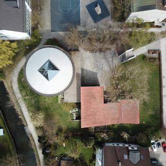 Luftaufnahme Evangelisch-Lutherische Kirchengemeinde Ismaning