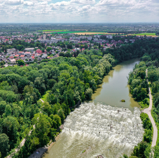 Luftaufnahme Isar