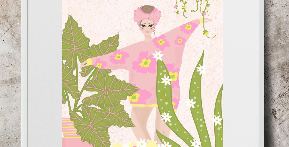 Dancing Among The Plants Art Print