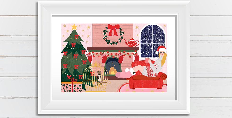 Christmas At Home Art Print