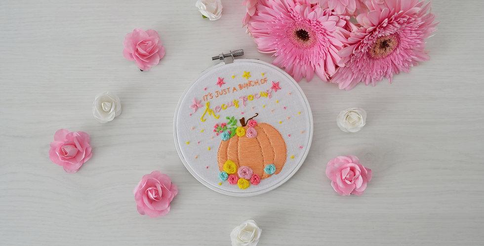 It's Just A Bunch Of Hocus Pocus Halloween Hand Embroidery Hoop Art