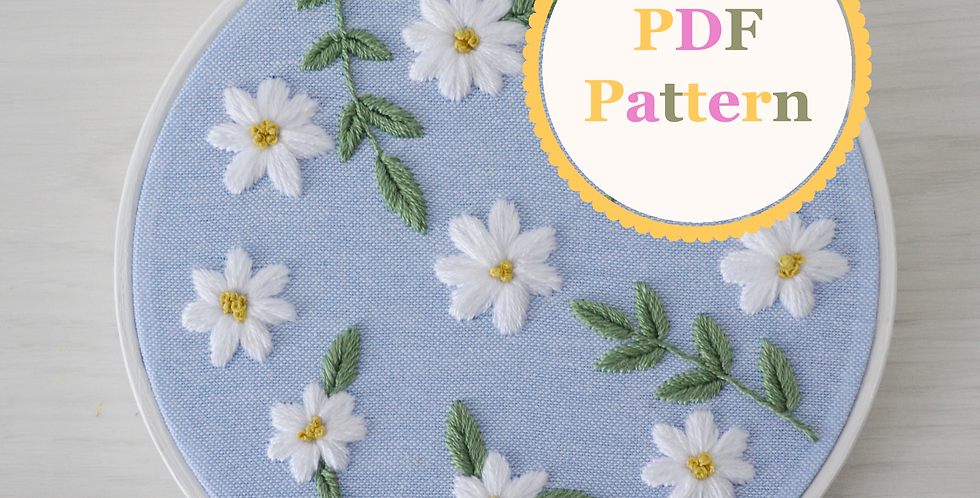 Daisies PDF Hand Embroidery Pattern