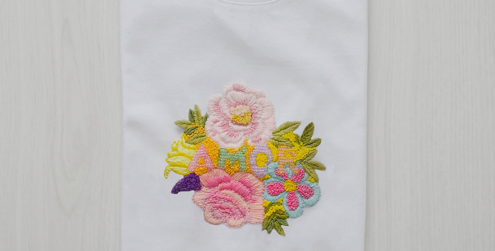 Amor Hand Embroidered T-Shirt