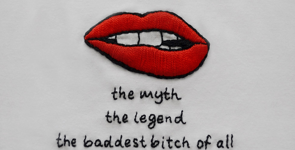 The Myth The Legend Hand Embroidered T-Shirt