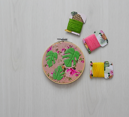 tropical free PDF hand embroidery patter