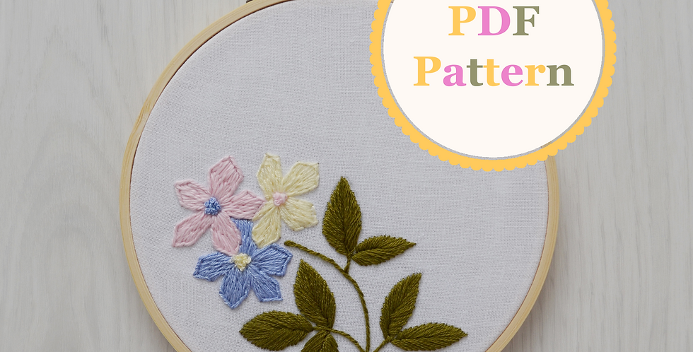 Floral Delight PDF Hand Embroidery Pattern