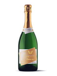 Champagne Bottle DEMI-SEC - DAMES DES AG