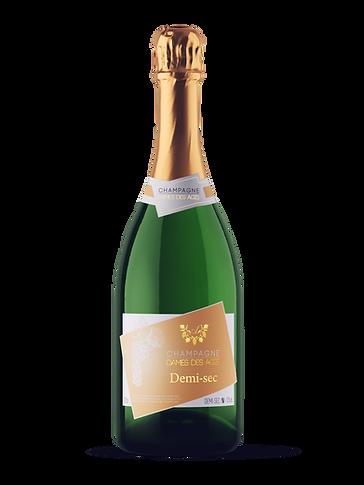 Champagne Bottle DEMI-SEC - DAMES DES AG