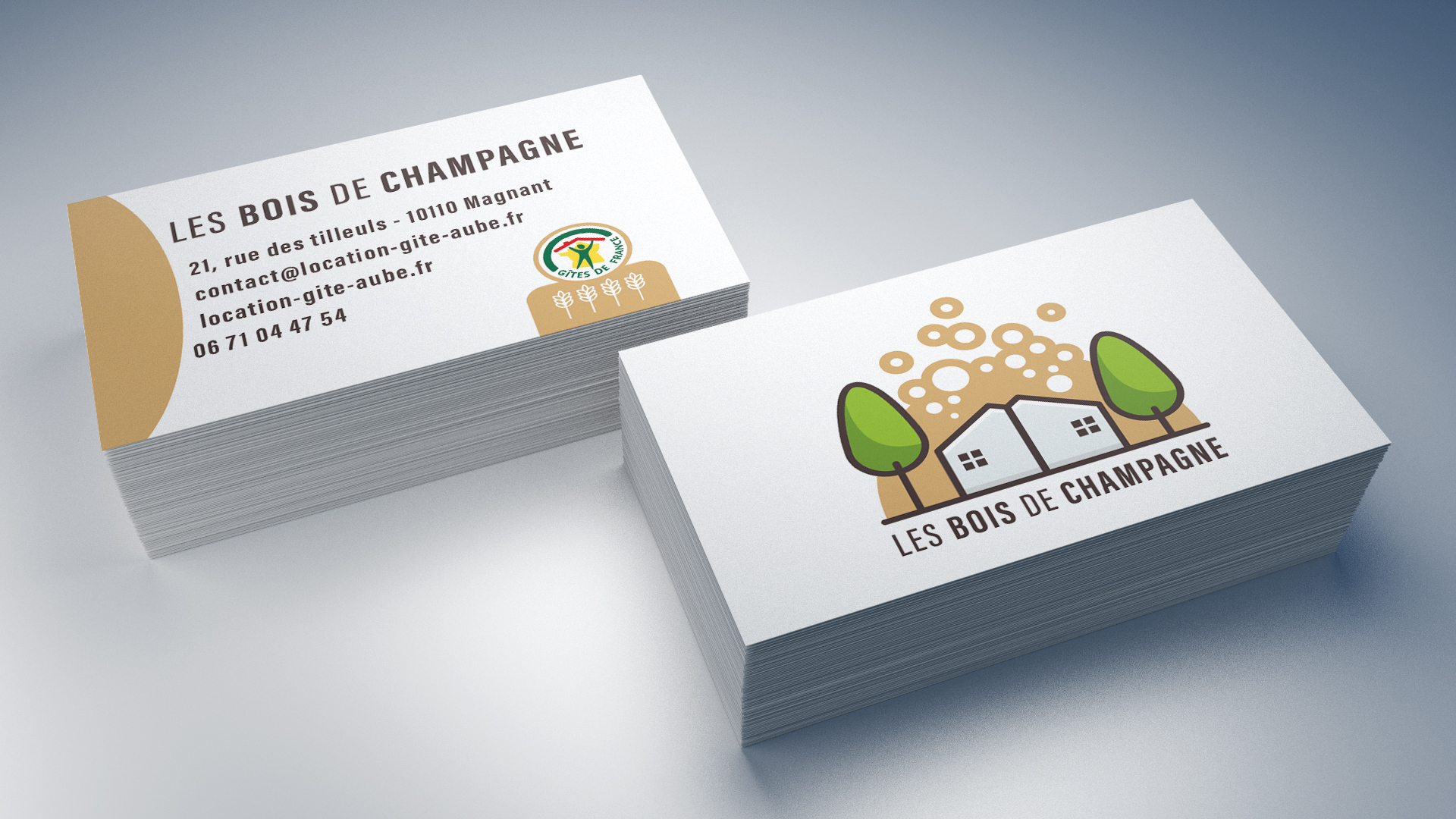 LES BOIS DE CHAMPAGNE - CARTE DE VISITE