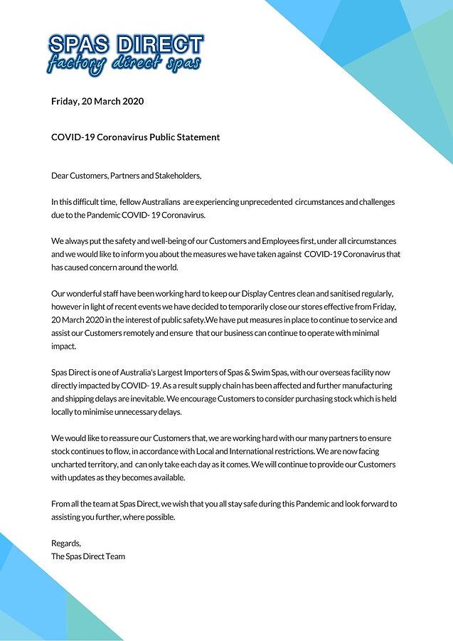 COVID-19 Coronavirus Public Statement .j