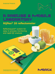 RQflex® 20 reflectometer Reflectoquant® system for easy in-process monitoring and rapid QC analysis