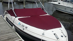 boat cover burgandy