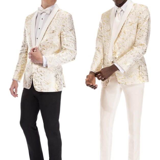 S902 GOLD & IVORY LAME
