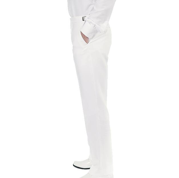 701 WHITE  TRIM FIT TUX PANT