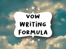 Vow Writing Formula