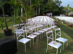 Cadeiras de ferro branca