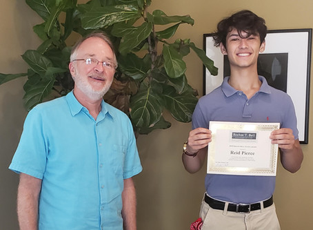 Bay High Senior earns scholarship from local attorney Brehm Bell
