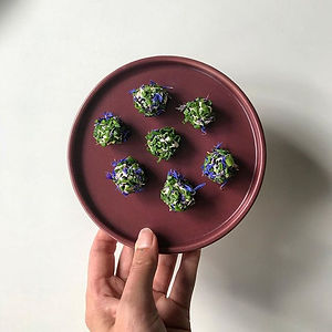 Sunflower cheese balls with chives and s