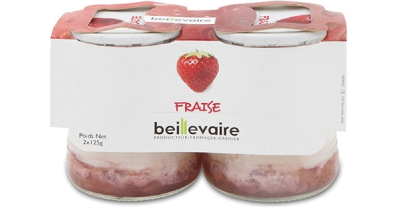 STRAWBERY YOGURT 125g x 8 glass